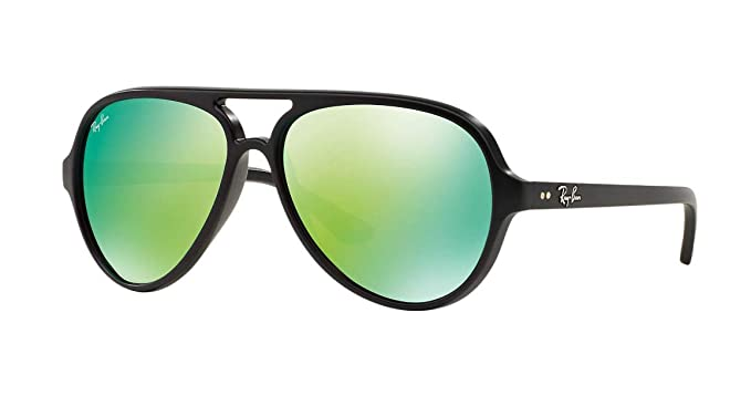 a46dcf3c2c Image Unavailable. Image not available for. Color  Ray-Ban CATS 5000  RB4125-601S19 Sunglasses MATTE BLACK w GREEN FLASH 59mm
