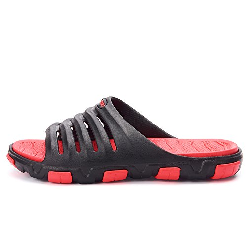 Vilocy Hombres Boys Lightweight Slip On Chancletas Piscina Playa Ducha Deslizadores Casual Summer Sandals Shoes Sport Black