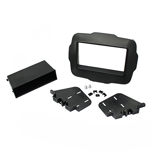 SCOSCHE CR1300B 2015-Up Jeep Renegade Double DIN & DIN with Pocket Kit ()