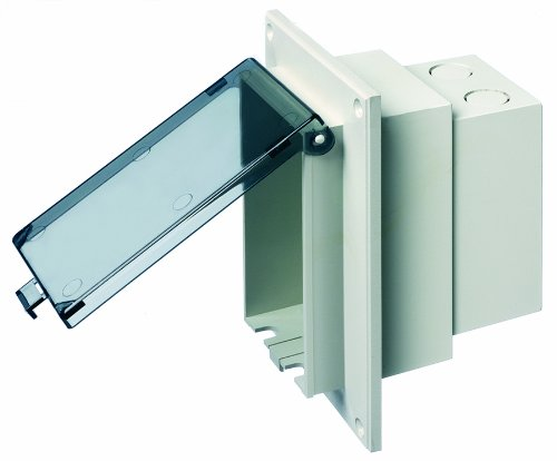 ow Profile IN BOX Electrical Box with Weatherproof Cover for Flat Surface Retrofit Construction, 1-Gang, Vertical, Clear ()