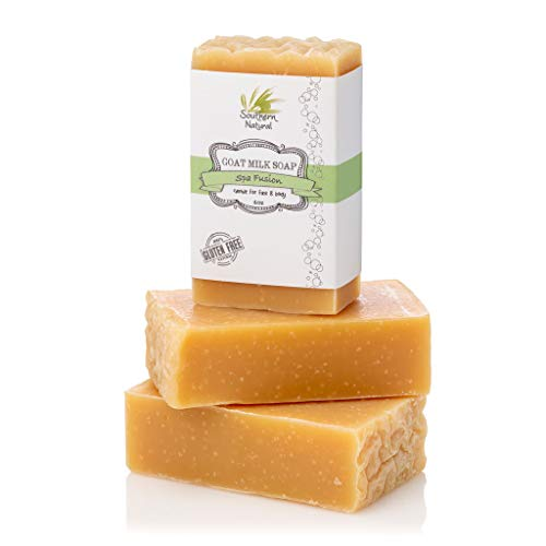 Essential Oil Blend - Handmade Goat Milk Soap Bars - For Eczema, Psoriasis & Dry Skin. 100% Natural & Gentle For Men, Women, Teens & Kids. (3 BARS 4 oz EACH) (Best Natural Soap For Eczema)