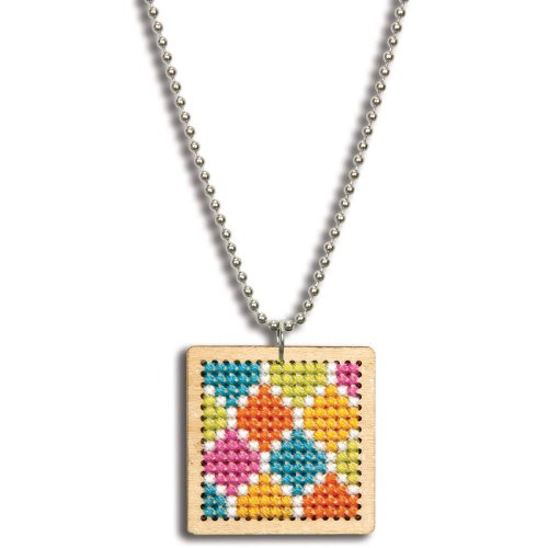 Dimensions Crafts 72-74070 Large Square Pattern Pendant Counted Cross Stitch Kit