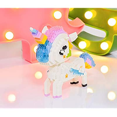 LOZ Unicorn Building Bricks Blocks Micro NO.9204 Compatible Nano Chistmas Bithday Gifts for Kids DIY Figures Assemble Educational Toys Model Kits: Toys & Games