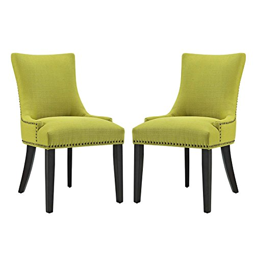 Modway EEI-2746-WHE Marquis Set of 2 Fabric Dining Sidechair 2 Side, Two Chairs, Wheatgrass