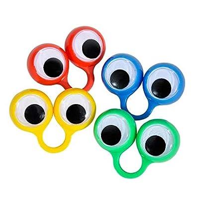 Large Eye Finger Puppets (12/Pack) Novelty: Toys & Games