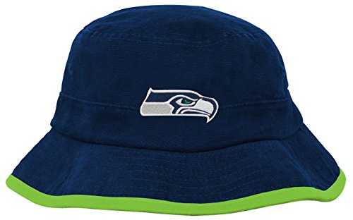 Team Bucket (NFL Infant Team Bucket Hat-Dark Navy-1 Size, Seattle Seahawks)