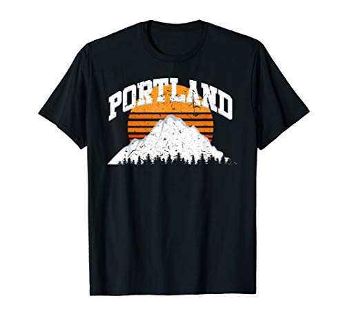 (Portland Shirt | Mountain Sunset 80's Vintage Retro T-shirt)