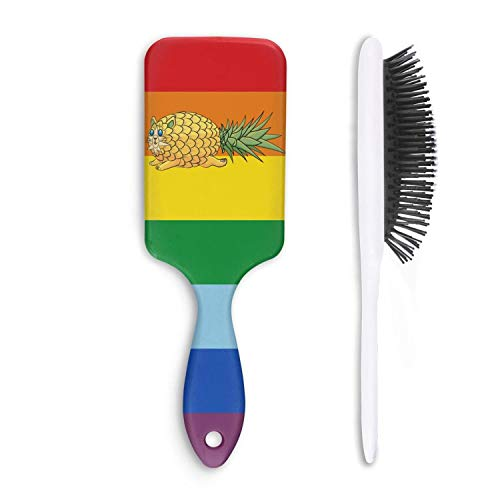 Unisex Detangle Hair Brush tropical fruit Pineapple Cat Boar Bristle Paddle Hairbrush for Wet, Dry, Thick, Thin,Curly hair