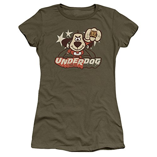 Underdog Animated TV Series Vintage Style Flying Logo Juniors Sheer T-Shirt Tee