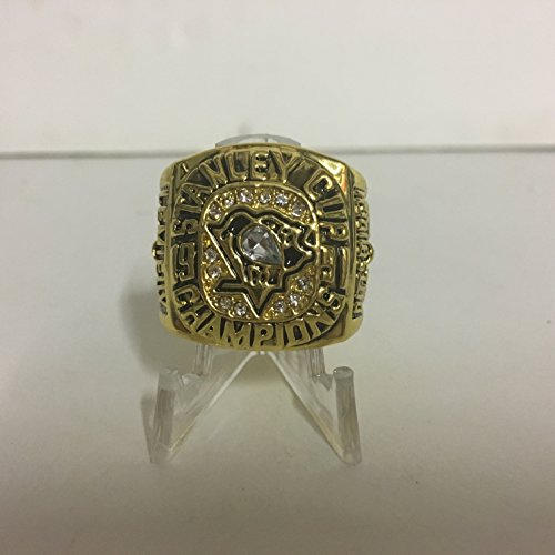 1991 Mario Lemieux #66 Pittsburgh Penguins High Quality Replica Stanley Cup Ring Size 10-Gold - Stanley 1991 Cup