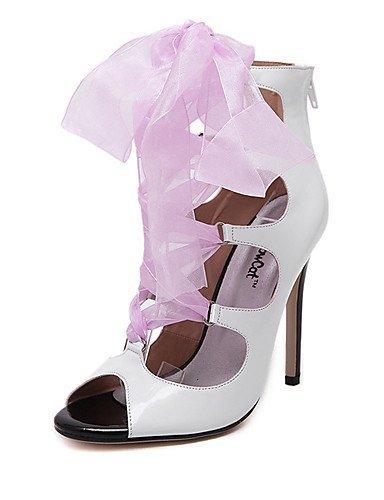 lfnlyx de zapatos de mujer stiletto talón abierto Toe sandalias vestido/casual rojo/blanco rojo