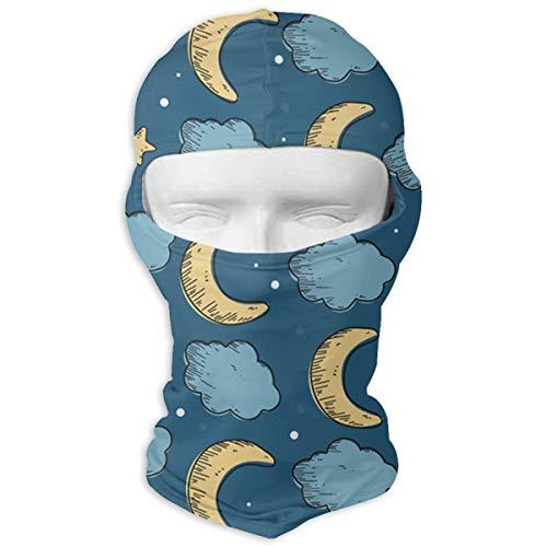 Moon-Star Sun Protection Full Face Ski Mask - Motorcycle Helmet Liner Breathable Outdoor Sports Dust Head Balaclava Hood for Men & (Moon Motorcycle Helmet)