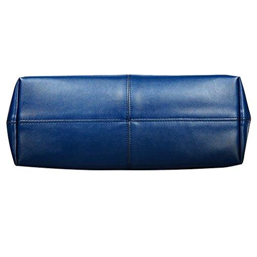 Grande Cuir Bleu Fourre épaule capacité Sacs Sac à Main Orange pour Tout FASHIONROAD Femme PU x8AIA6
