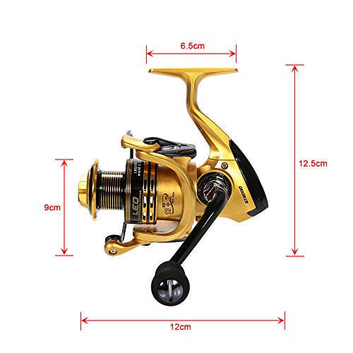 Lixada fishing full kit spinning rod and fishing reel for Freshwater fishing gear