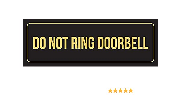 iCandy Combat Black Background with Silver Font Do Not Ring Doorbell Business Retail Outdoor /& Indoor Plastic Wall Sign 3x9 Single