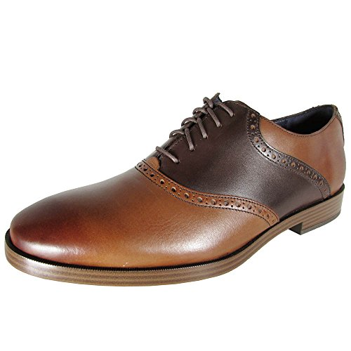 Cole Haan Mens Jefferson Grand Saddle Oxford Shoes, Woodbury/Papaya, US 10