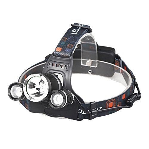 X.Store 8000 Lumens Headlamp LED Flashlight Bright Headlight Torch with 18650 Rechargeable Batteries and Wall Charger for Outdoor by X.Store (Image #2)