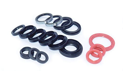 SUZUKI SJ410 SJ413 OIL SEAL KIT (16 OIL SEALS) FOR FRONT & REAR AXLE KING PIN DIFFERENTAL PINION GEAR CASE TRANSMISSION TRANSFER GEARBOX CRANK CAM SHAFT OIL SEALS SAMURAI JIMNY SIERRA CARIBIAN GYPSY