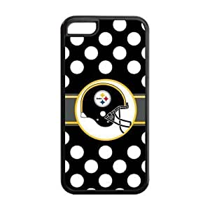 Custom NFL Pittsburgh Steelers Inspired Design PC Case Back Cover For Iphone 5c iphone5c-NY516
