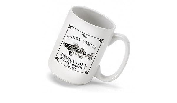 Amazon Com Personalized Gift Cabin Series Walleye Coffee Mug Kitchen Dining