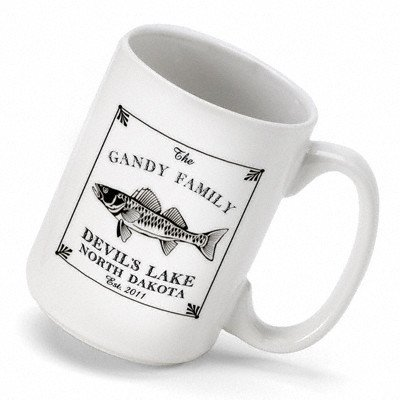 Cabin Series Stein - Personalized Gift Cabin Series Walleye Coffee Mug