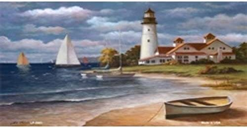 Full Color Photography LP-3061 Lighthouse Painting License Plate Tags
