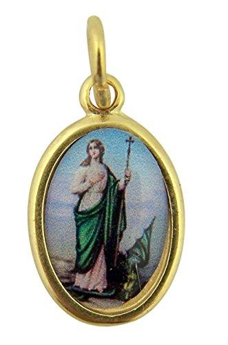 Gold Toned Base with Epoxy Image Saint Martha Icon Medal Pendant, 1 ()