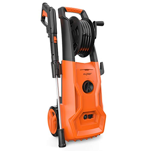 AIPER Electric Pressure Washer Power Washer 2150 PSI 1.85 GPM Electric Power Washer Cleaner Machine with Long Hose, Hose Reel, Adjustable Nozzle and Spray Gun