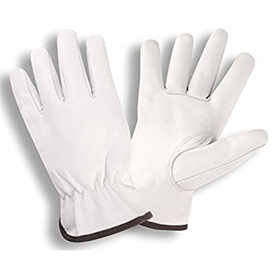 Cordova 8500 Premium Grain Goatskin Drivers Gloves, Keystone Thumb, Color Coded Cuff, Size: Medium, Pack of 12 Pair