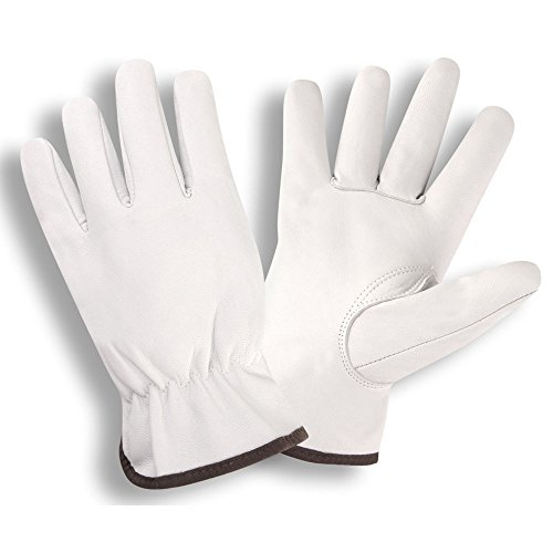 Cordova 8500 Premium Grain Goatskin Drivers Gloves, Keystone Thumb, Color Coded Cuff, Size: Medium, Pack of 12 Pair (Driver Keystone)