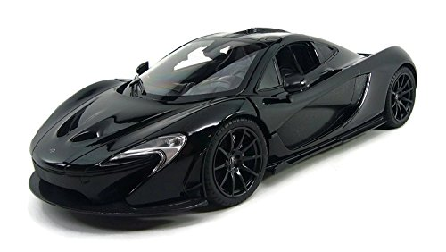 AMPERSAND SHOPS Official Licensed McLaren P1 in Black 1:14 Scale Radio Control Ultra Detailed Interior and Exterior (Nascar Remote Control Car)