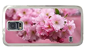 Hipster popular Samsung Galaxy S5 Cases sakura blossoms spring PC Transparent for Samsung S5