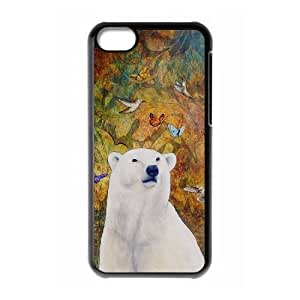 bear Cell Phone Case for Iphone 5C,diy bear cell phone case series 4