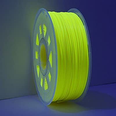 Gizmo Dorks ABS Filament 3mm (2.85mm) 200g for 3D Printing, Black Light Reactive Fluorescent Yellow