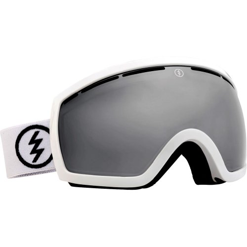 (Electric Visual EG2.5 Gloss White/Bronze Silver Chrome Snow Goggle)