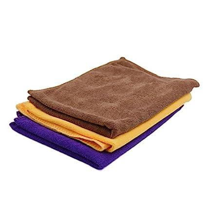 eDealMax 3pcs 65 x 33cm paños de toalla de microfibra 250GSM Para el Lavado de coches