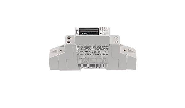 Display 220V 20//30//32A Electric Digital Watt Hour Meter DIN Rail Kwh Meter