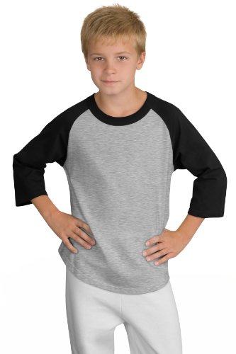 Sport-Tek Youth Colorblock Raglan Jersey. YT200