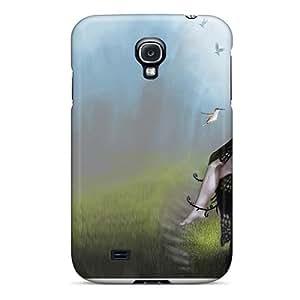 Jeffrehing Premium Protective Hard Case For Galaxy S4- Nice Design - Sad Fairy