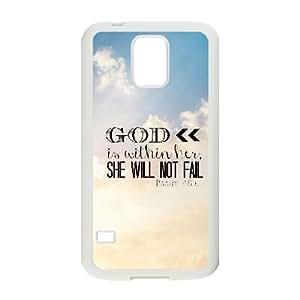 Bible Verse Unique Design Cover Case for SamSung Galaxy S5 I9600,custom case cover ygtg619469