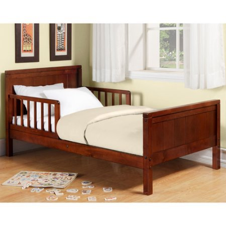 Toddler Bed, Multiple Colors. Includes 2 built-in guardrails that help keep  toddlers