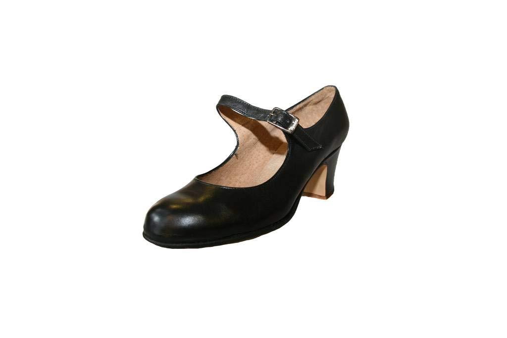 Menkes S.A Chaussure de Flamenco, Débutant, Femme, Cuir, avec Clous