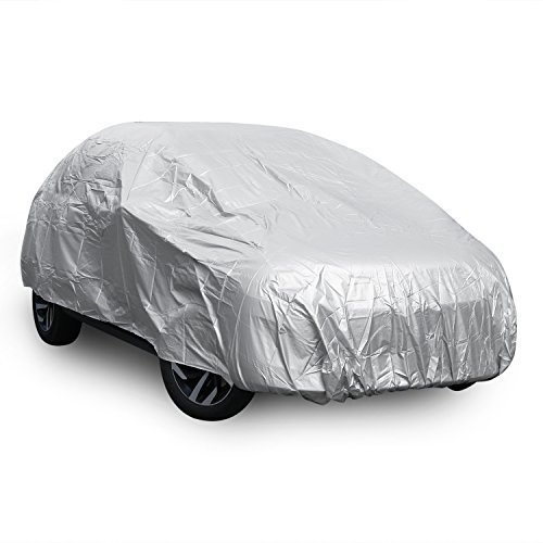 CooCheer Car Cover,Waterproof&dustproof Lite Car Cover Fits Cars up to 188 inches(Silver)