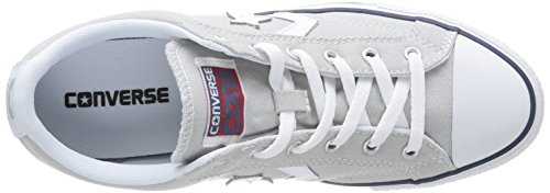 blanc gris Ox Canvas Core Gris Star Converse Baskets Adulte Mixte Player Basses Clair fnwx7v