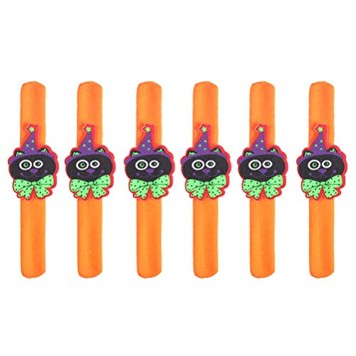 Amosfun Slap Bracelets Snap Wristband Kids Funny Bracelet for Halloween Party Favors Props 6Pcs ()