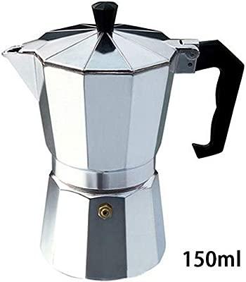 Amazon.com: Cafetera Moka de aluminio duradera, 50/100/150 ...
