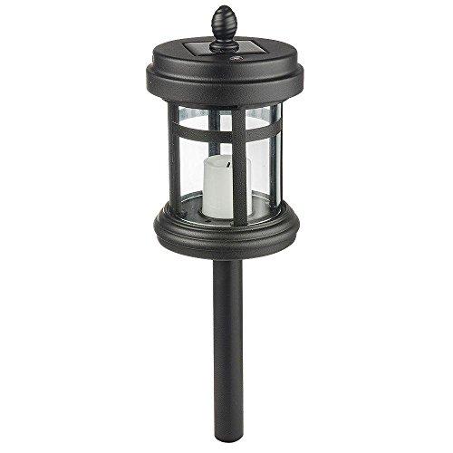 Hampton Bay Solar Powered Black LED Cast Aluminum Path Light (4-Pack)