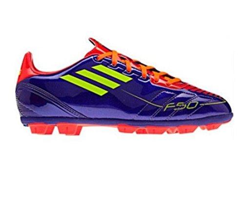 Adidas F10 TRX HG J purple / red / neon yellow soccer sho...