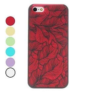 LX 3D Effect Leaf Pattern Hard Case for iPhone 5/5S Back Case Color Purple by mcsharks