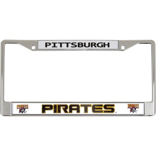 - Pittsburgh Pirates Official MLB 12 inch x 6 inch Chrome License Plate Frame by Rico Industries